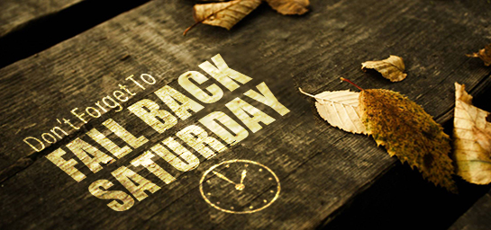Fall back one hour this Saturday!