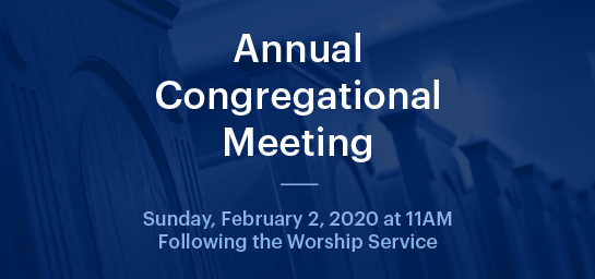 Annual Congregational Meeting 2020