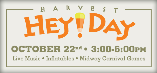 Join us October 22 for Harvest Hey Day!