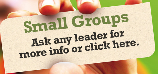 High-Life Small Groups: Ask a leader for more info or click here. 