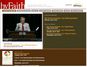 PCA General Assembly Webcast for this week!