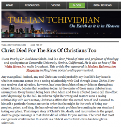 Christ Died for the Sins of Christians Too!